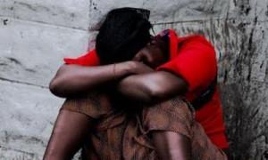 Une femme victime de viol.