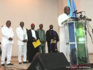 Des représentants de confessions religieuses le 21/09/2012 à Kinshasa, lors de la célébration de la journée internationale de la paix. Radio Okapi/ Ph. John Bompengo
