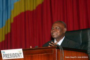 Timothée Kombo Nkisi, Président provisoire de l'Assemblée Nationale de la RDC, le 16/02/2012. Radio Okapi/Ph. Aimé-NZINGA