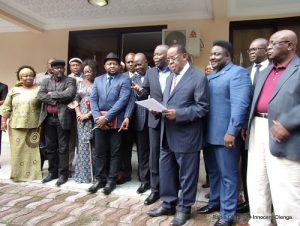 Les opposants du G7, Dynamique et du Front Anti-Dialogue, le 10 février 2016. Radio Okapi/Ph. Innocent Olenga