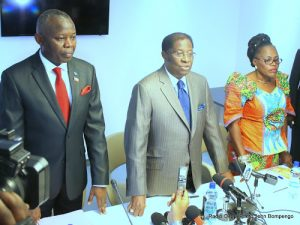 Point de presse des membres du bureau du dialogue politique national à Kinshasa, le 08/11/2016. Radio Okapi/Ph. John Bompengo